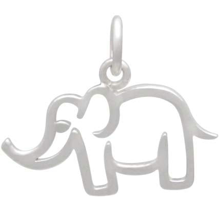Sterling Silver Openwork Mama Elephant Charm, Nina Designs