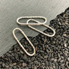 Sterling Silver Oval Link with Hammered Texture,