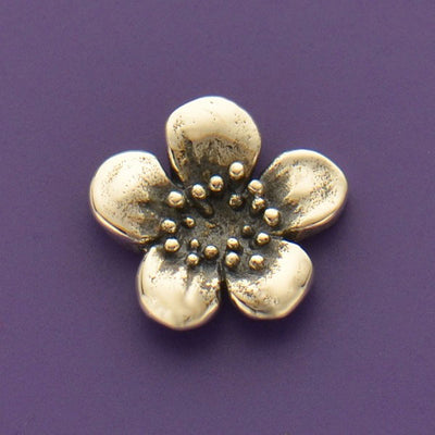 Sterling Silver Plum Blossom Charm Embellishment