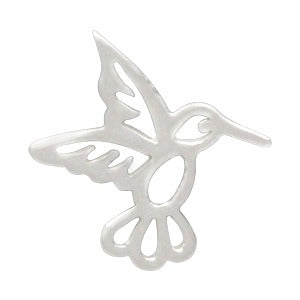 Sterling Silver Tiny Hummingbird Charm Embellishment - Poppies Beads n' More