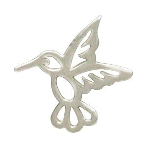 Sterling Silver Tiny Hummingbird Charm Embellishment