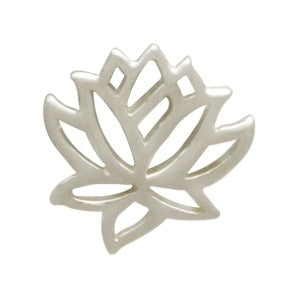 Sterling Silver Tiny Lotus Charm Embellishment