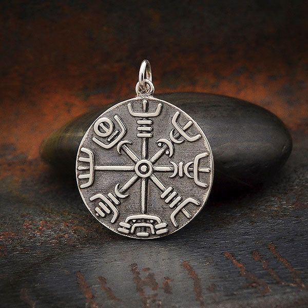 Sterling Silver Viking Compass Pendant, Nina Designs