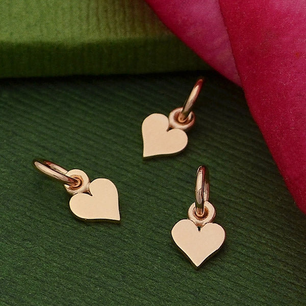 Tiny Heart Charm - Poppies Beads n' More
