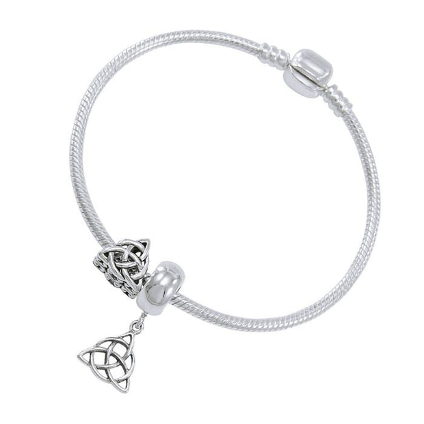 Triquetra Sterling Silver Bead Bracelet - Poppies Beads n' More