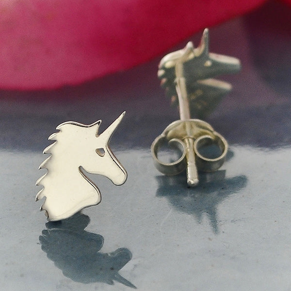 Unicorn Post Earrings,