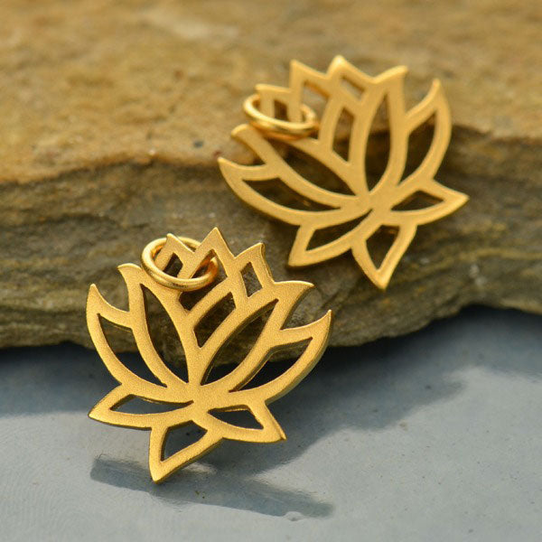 Lotus Charm - Poppies Beads n' More