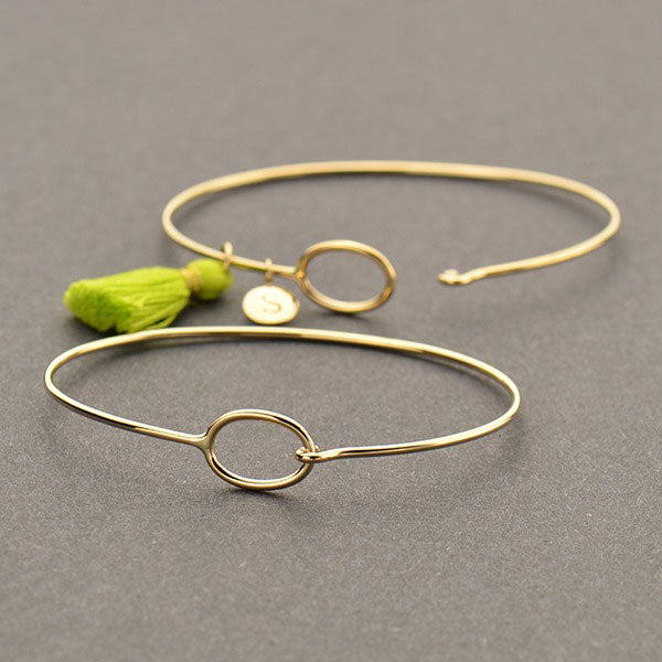 Hook and Eye Closure Bangle - Poppies Beads n' More