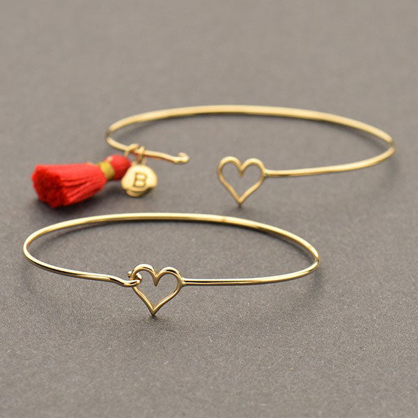 Heart Hook and Eye Bangle - Poppies Beads n' More