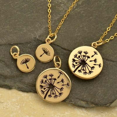 Big and Small Dandelion Charm Set