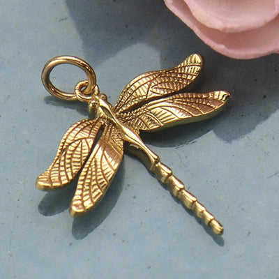 Realistic Dragonfly Charm,