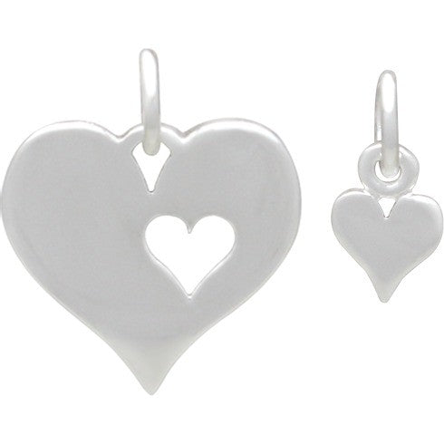 Hearts- Mother Daughter Charm Set