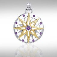 Wander Through My Compass Pendant - Poppies Beads n' More