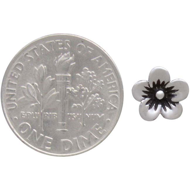 Sterling Silver Large Cherry Blossom Solderable Charm