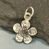Single Plum Blossom Sterling Silver Charm - Poppies Beads n' More