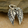 Medium Sterling Silver Double Wing Charm - Poppies Beads n' More