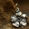 Sterling Silver Cherry Blossom Charm - Poppies Beads n' More