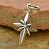 Sterling Silver North Star Charm - Poppies Beads n' More