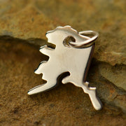 Sterling Silver Alaska State Charm - Poppies Beads n' More