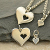 Sterling Silver Hearts- Mother Daughter Charm Set - Poppies Beads n' More