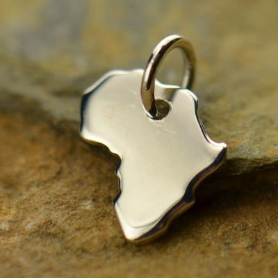 Sterling Silver Africa Charm - Poppies Beads n' More