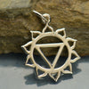 Sterling Silver Solar Plexus Chakra Charm - Poppies Beads n' More