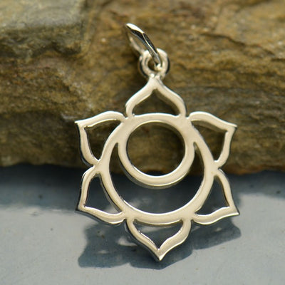 Sterling Silver Sacral Chakra Charm - Poppies Beads n' More