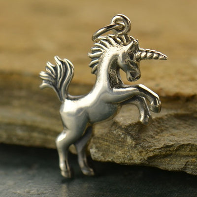 Sterling Silver Realistic Unicorn - Poppies Beads n' More