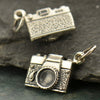 Sterling Silver Camera Charm - Poppies Beads n' More