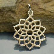 Sterling Silver Crown Chakra Charm - Poppies Beads n' More