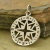 Sterling Silver Openwork Compass Pendant - Poppies Beads n' More