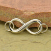 Infinity Link - Sterling Silver - Poppies Beads n' More