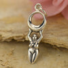 Sterling Silver Moon Goddess Charm - Poppies Beads n' More