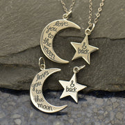 Sterling Silver Love You to the Moon and Back Star Set - Poppies Beads n' More