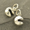 Sterling Silver Tiny Realistic Fortune Cookie Charm - Poppies Beads n' More