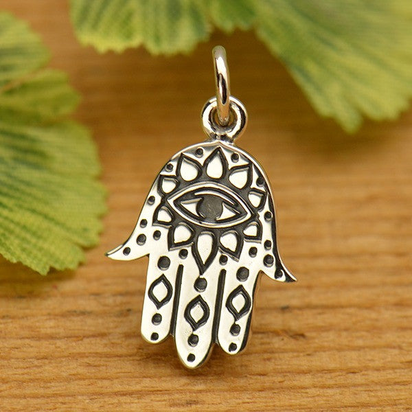 Hamsa Hand with Etched Evil Eye