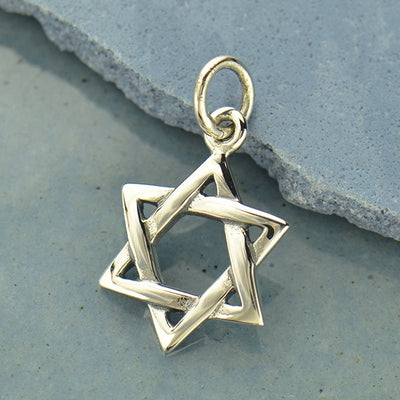 Sterling Silver Star of David Pendant - Poppies Beads n' More