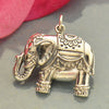 Large Sterling Silver Indian Elephant Pendant - Poppies Beads n' More