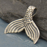 Sterling Silver Mermaid Tail Pendant - Mermaid Charm - Poppies Beads n' More