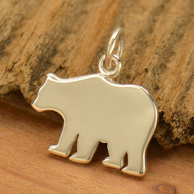 Sterling Silver Mama Bear Stamping Blank - Poppies Beads n' More