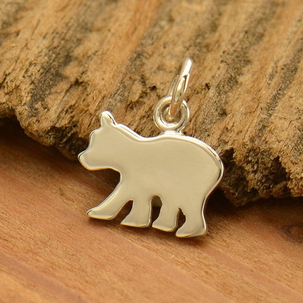 Sterling Silver Baby Bear Stamping Blank - Poppies Beads n' More