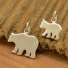 Sterling Silver Mama Bear and Baby Bear - Stamping Blank Set - Poppies Beads n' More