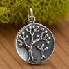 Sterling Silver Tree of Life Charm - Mama and Baby Trees - Poppies Beads n' More