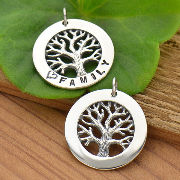 Silver Textured Tree of Life Stamping Blank Frame - Poppies Beads n' More