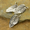 Small Sterling Silver Mint Leaf Charm - Poppies Beads n' More