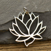 Lotus Charm, - Poppies Beads n' More
