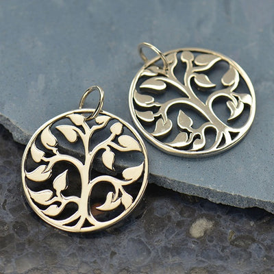 Sterling Silver Tree of Life Charm - Poppies Beads n' More
