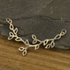 Large Sterling Silver Branch with Leaves Festoon - Poppies Beads n' More