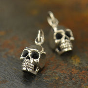 Sterling Silver Skull Charm - Poppies Beads n' More