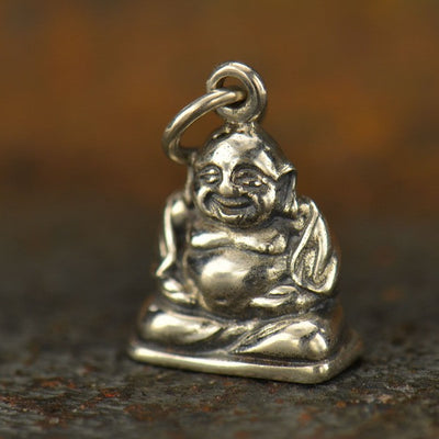 Sterling Silver Happy Buddha Charm - Poppies Beads n' More